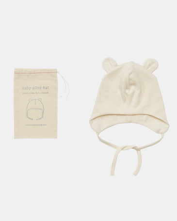 Organic Cotton Baby Pilot Hat