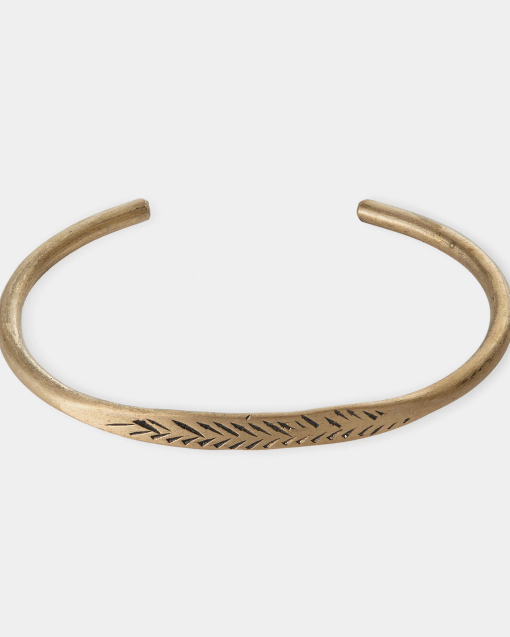 Brass Bracelet: Feather