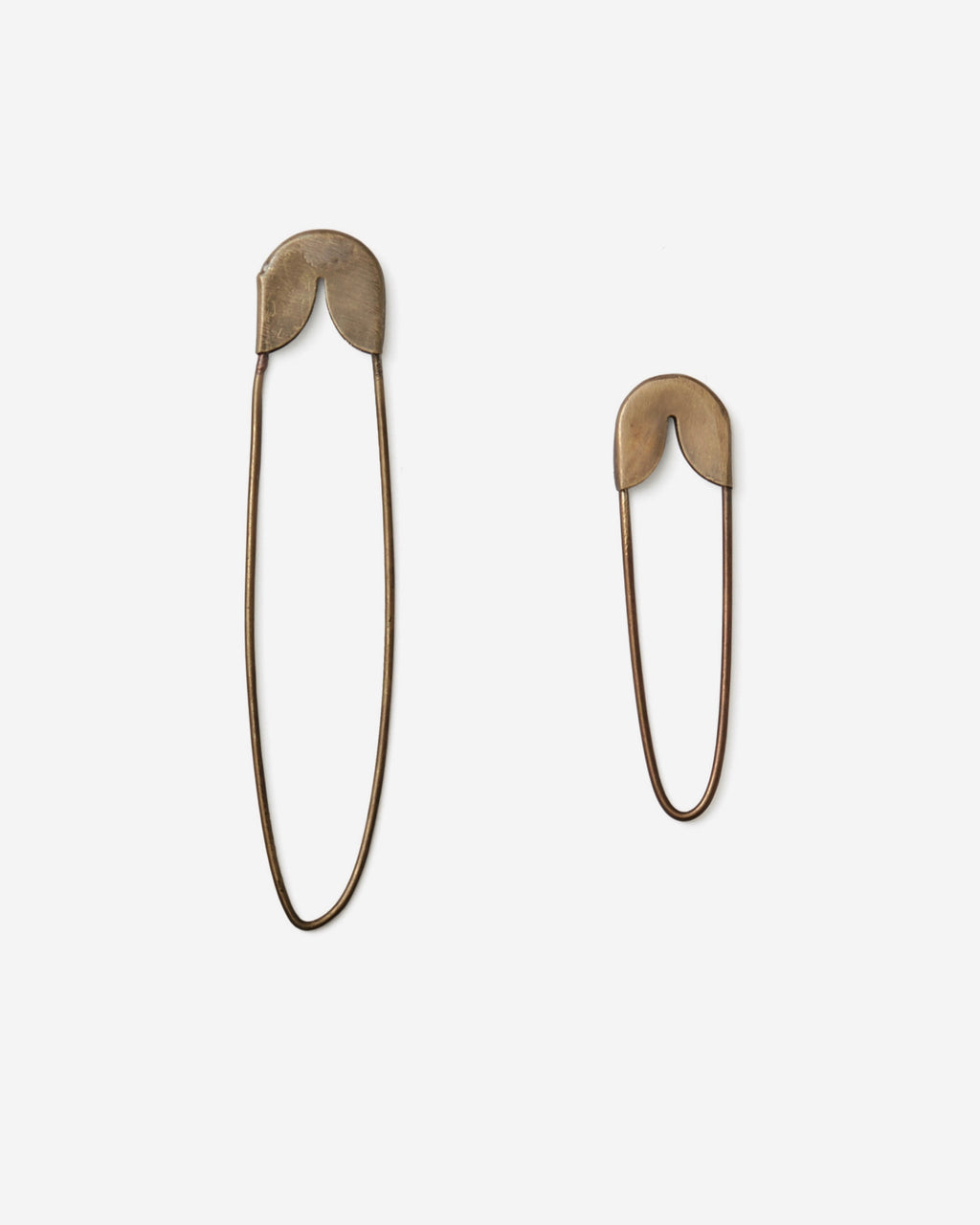 Brass Safety Pin: Small & Medium