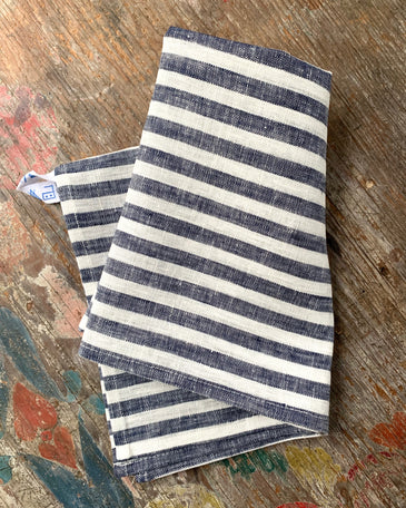 Kitchen Cloth: Navy White Stripe