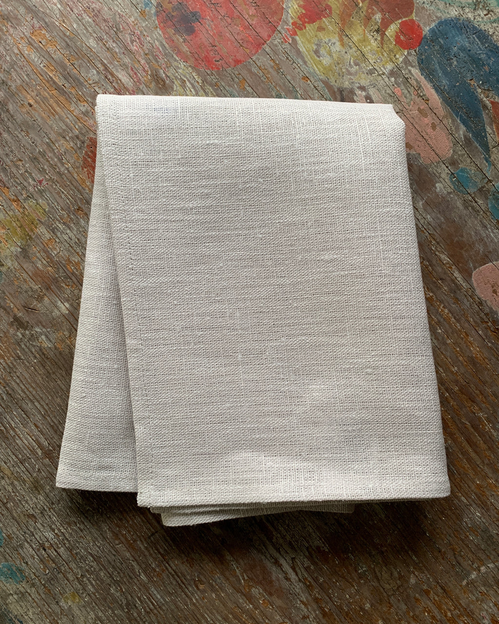Thick Linen Kitchen Cloth: Albatre