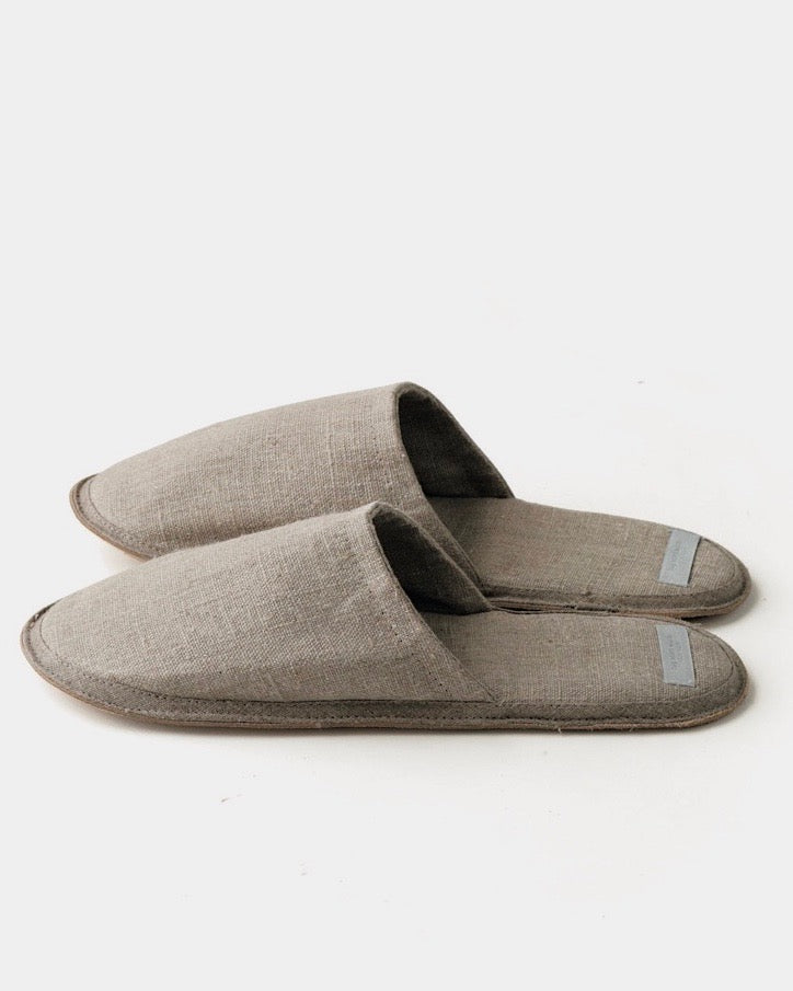Linen Slippers: Natural