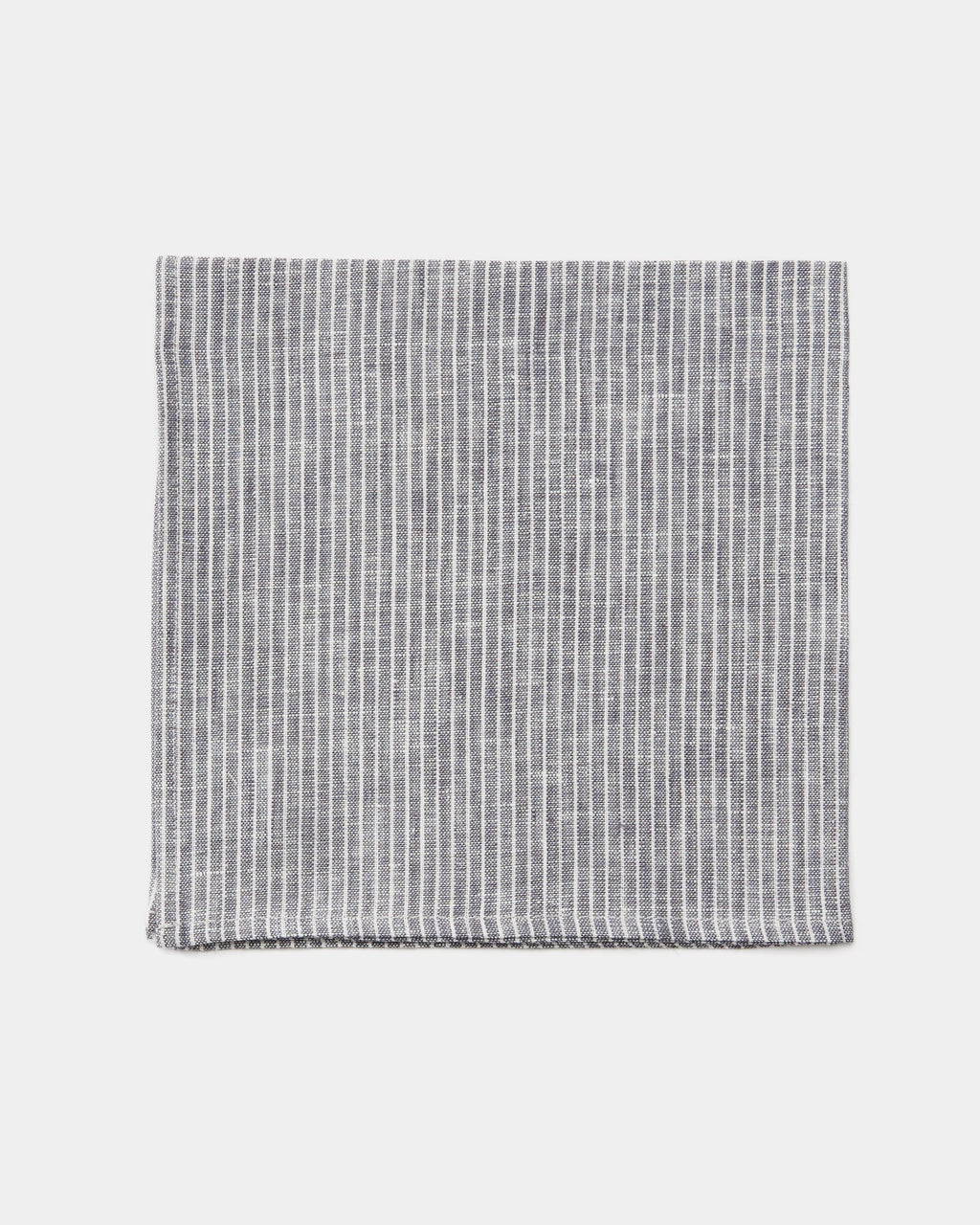 Napkin: Grey Thin White Stripe