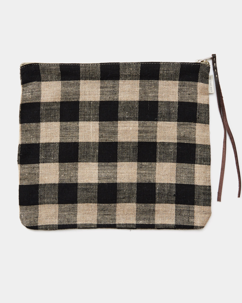 Canna Pouch: Black Natural Check