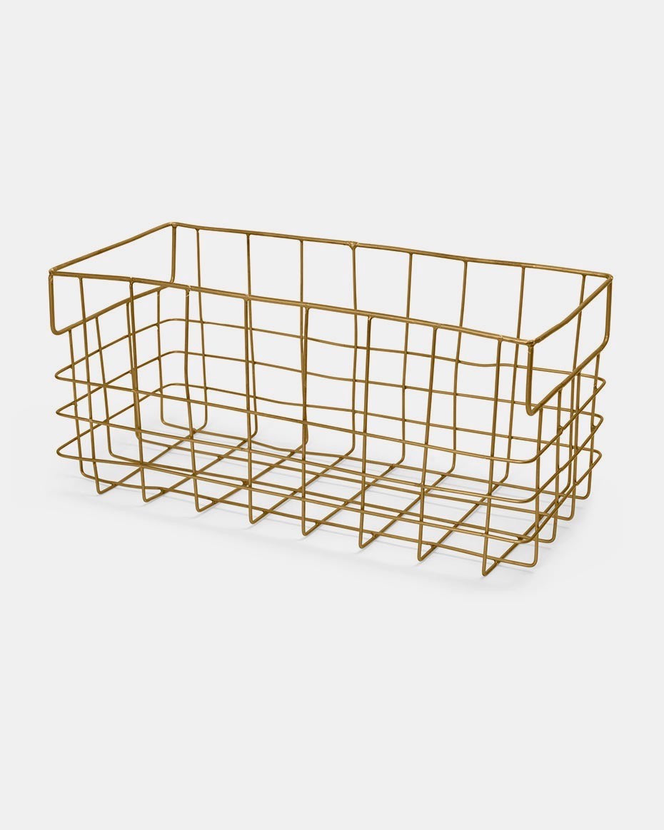 Brass Wire Basket: Large