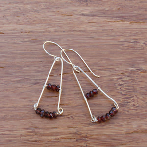 Sterling Silver Pyramids with Garnets