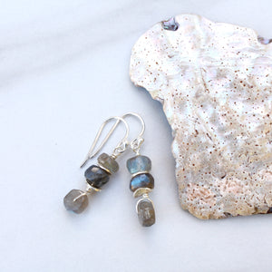 Double Stack Labradorite in Tandem