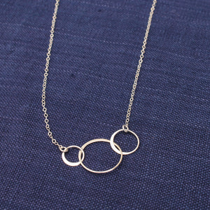 Three Circles Silver Ring Necklace