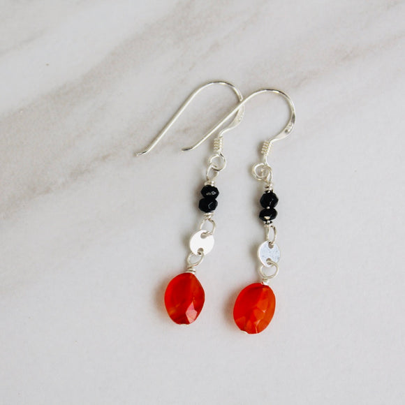 Carnelian Chain Dangle