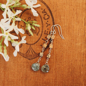 Neutral Jasper and Moss Agate Dangles