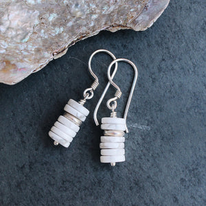 Bold Stack of White Howlite