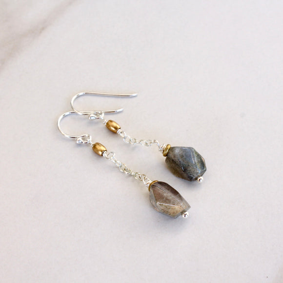 Mixed Metals with Labradorite Nugget