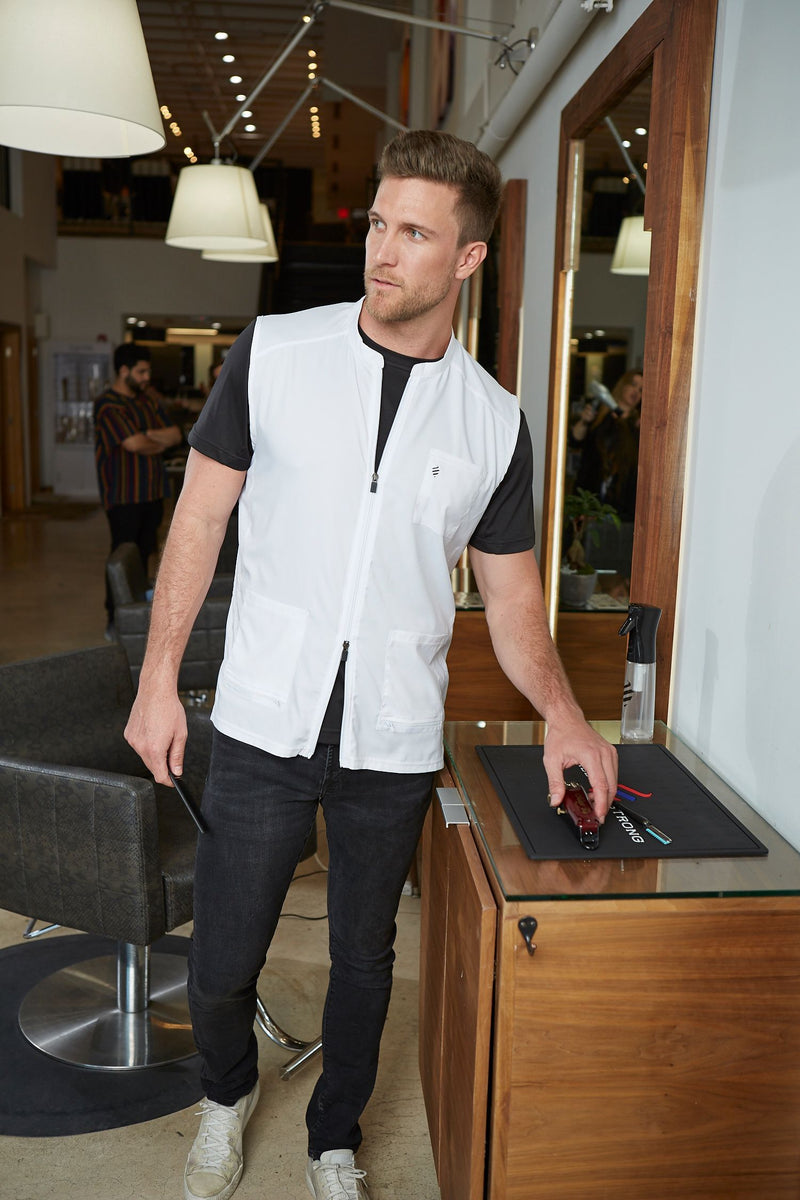 Barber Strong The Barber Vest - White