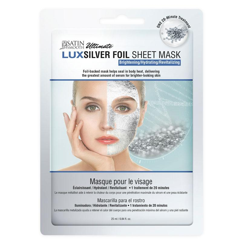 Satin Smooth Silver Foil Sheet Mask