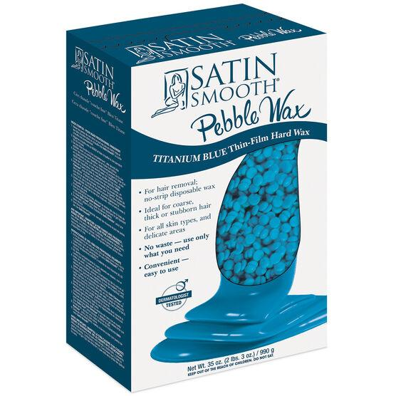 Satin Smooth Pebble Wax Titanium Blue Thin Hard Wax - Empire Barber Supply