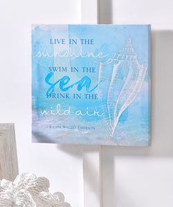 HOME DECOR Canvas Wall Sign. Free Shipping !!*.*!! Live in the Sunshine ..........