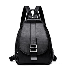 Load image into Gallery viewer, High Quality Ladies Crossbody. Soft Real Leather Backpack. Black