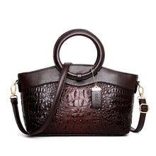 Load image into Gallery viewer, Luxury Leather Handbag Designer Crocodile Women Purse Shoulder Bags Brown