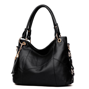 Luxury Leather Handbag Designer Black Women Purse Shoulder Bags