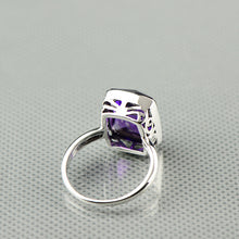 Load image into Gallery viewer, Natural Purple Amethyst Ring 925 Sterling Silver Natural Gemstone Size 8 . Free Shipping !