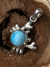 Load image into Gallery viewer, Crab Larimar Pendant 925 Solid Sterling Silver & Caribbean Gemstone Jewelry.