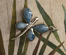 Load image into Gallery viewer, Butterfly Larimar Pendant 925 Solid Sterling Silver & Caribbean Gemstone