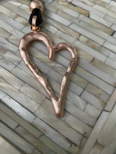 Load image into Gallery viewer, Boho Multi Black Cord Necklace Heart Pendant Gold Free Shipping!