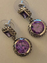 Load image into Gallery viewer, Gemstone Earrings Amethyst Natural  Stones & 925 Sterling Silver Fine Jewelry