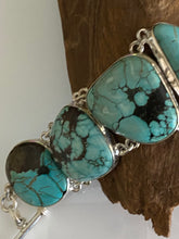 Load image into Gallery viewer, One of the KInd Turquoise Bracelet  Handcrfted in India 925 Sterling Silver