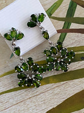Load image into Gallery viewer, Handcrafted Chrome Diopside Earrings 925 Sterling Silver Fine Jewelry