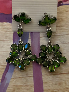 Handcrafted Chrome Diopside Earrings 925 Sterling Silver Fine Jewelry
