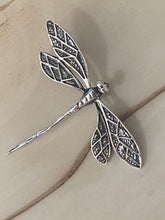 Load image into Gallery viewer, Dragonfly Pendant 100% Sterling Silver Jewelry. Free Shipping! Free Silver Plated Chain
