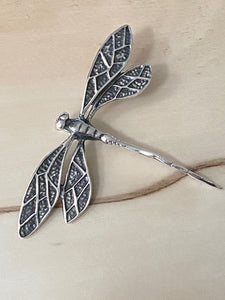 Dragonfly Pendant 100% Sterling Silver Jewelry. Free Shipping! Free Silver Plated Chain