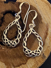 Load image into Gallery viewer, Filigree Sterling Silver Oval Dangling Earrings