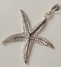 Load image into Gallery viewer, Starfish Pendant 100% Sterling Silver Jewelry. Free Shipping! Free Silver Plated Chain