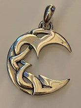 Load image into Gallery viewer, Moon Pendant 925 Sterling Silver Jewelry. Free Silver Plated Chain. Free Shipping!