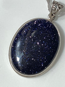 "Natural Sandstone Pendant Sterling Silver Jewelry. 18"" free Chain. Free shipping !!*.*!!"