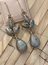 Load image into Gallery viewer, Larimar & Sterling Silver Dangling Earrings..Free Shipping!!
