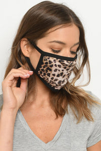 Leopard Print & Black.Reversible. Face Mask Reusable For Adult. Free shipping !!*.*!!