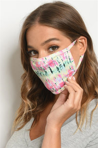 RAINFOREST TIE DYE REUSABLE FACE MASK FOR ADULT. Free shipping !!*.*!!