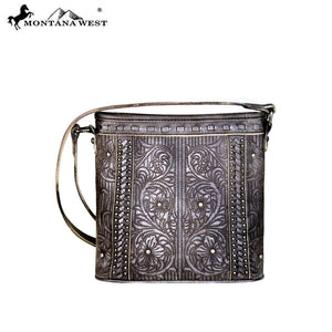 Montana West Embroidered Collection Crossbody Coffe