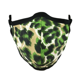 Animal Print Green - Namaske Style Face Mask