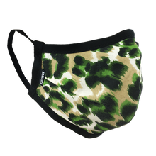 Load image into Gallery viewer, Animal Print Green - Namaske Style Face Mask