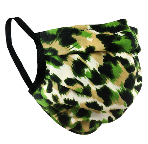 Animal Print Green - Washable & Reusable Surgical Style Face Masks