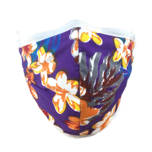 Load image into Gallery viewer, Hawaiian Flowers Purple - Namaske Style Face Mask