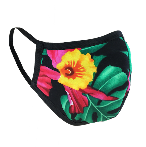 Namaske Reusable Face Masks with Hawaiian Flower Print