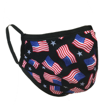 Load image into Gallery viewer, American Flags - Namaske Style Face Mask