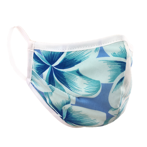 Namaske Reusable Face Masks with Tropical Breeze Hawaiian Flower Print