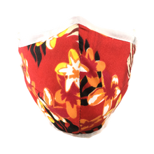 Load image into Gallery viewer, Hawaiian Flowers Red - Namaske Style Face Mask