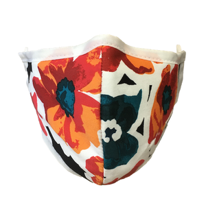 Namaske Face Mask with Hawaiian Flower Pattern